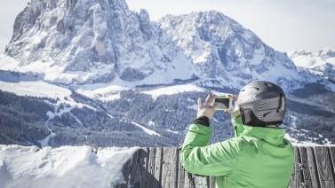 Die Grödner Bergwelt genießen beim Skiurlaub