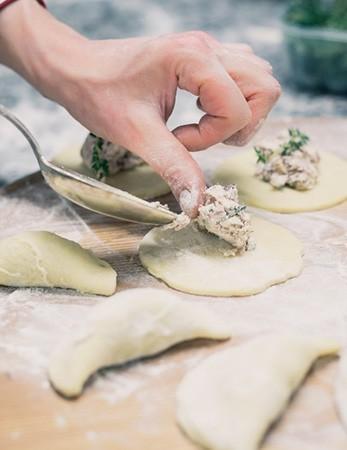 Teigtaschen und traditionelle Gerichte aus Südtirol