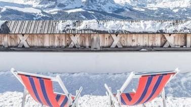 Liegestühle Dolomiten erleben Gröden Hotel