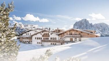 Malerische Winterlandschaft Skiurlaub Dolomiten Gröden