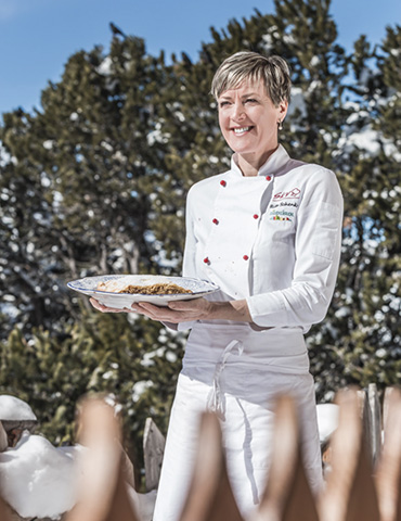 South Tyrolean favorite dishes prepared by chef Rita and team