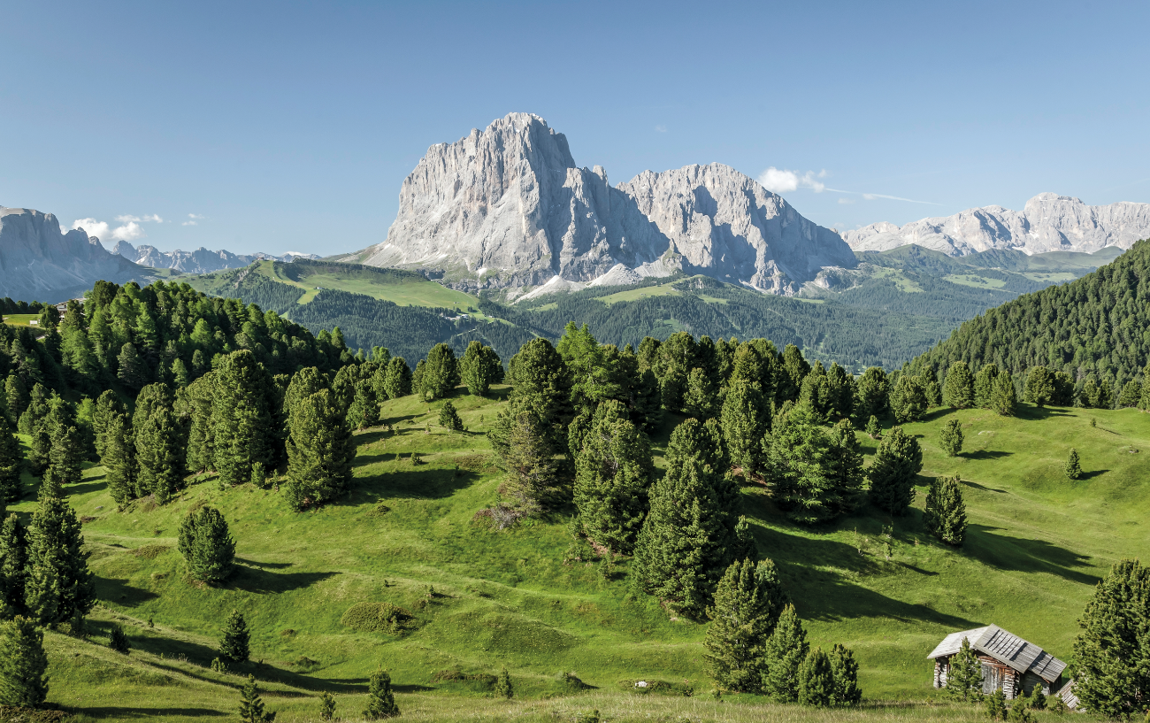 great view at the hiking hotel in Val Gardena
